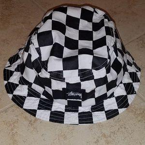 Stussy checkered bucket hat